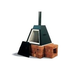 PYRAMIDE 135L GAS/HOUTOVEN