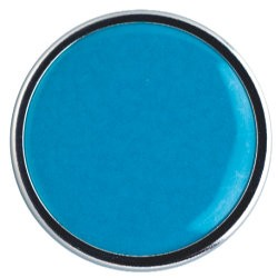 EMAILLE DEKKEND DONKER TURQUOISE LOODVR.