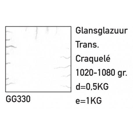 GLANSGLAZUUR TRANSPARANT CRAQUELE 500GR.
