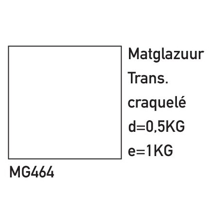 MATGLAZUUR TRANSPARANT CRAQUELE 500GRAM