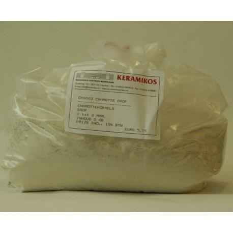 CHAMOTTEKORRELS GROF VAN 0,5 - 2,0MM 5kg